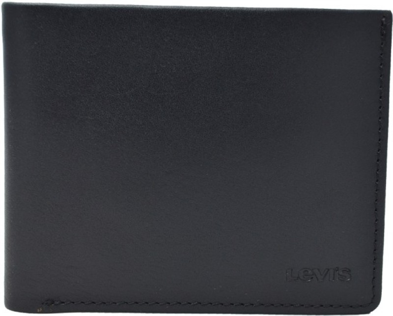 Levis Men Casual Black Genuine Leather Wallet(6 Card Slots)