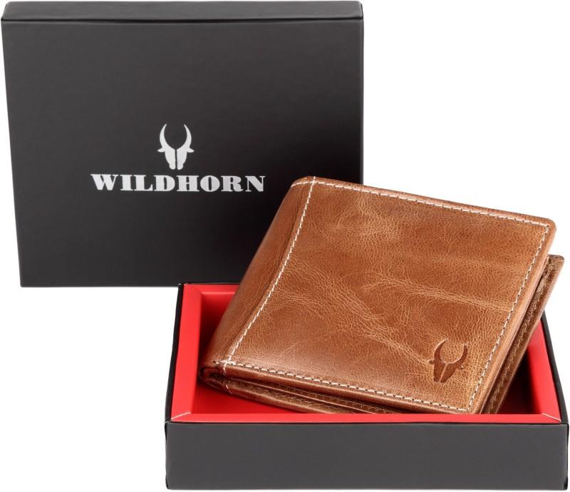 WildHorn Men Formal Tan Genuine Leather Wallet(5 Card Slots)