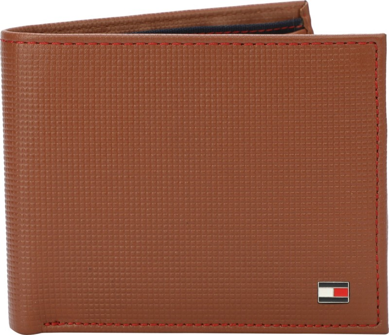 Tommy Hilfiger Men Tan Genuine Leather Wallet(7 Card Slots)