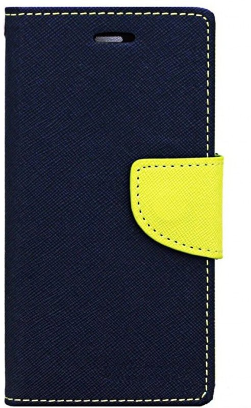 Avzax Wallet Case Cover for Alcatel Pop 4(Blue, Cases with Holder, Artificial Leather, Silicon)