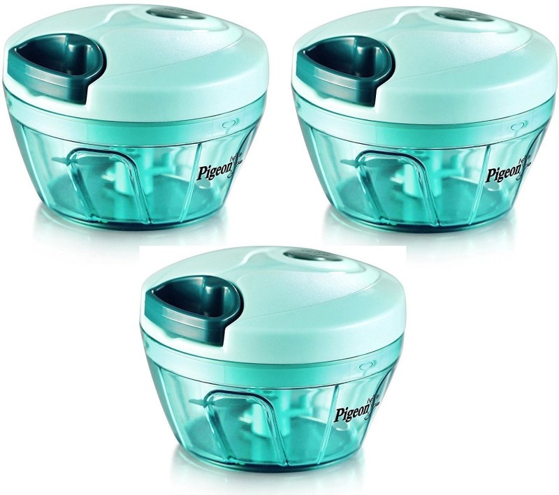 Pigeon Handy chopper, triple blade, green colour with pull cord technology Vegetable & Fruit Chopper(3 Handy Chopper)