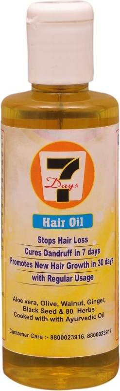 7 days 7 Daya Hair Oil Anti Hair Fall & Promote New Hairs Hair Oil(200 ml)