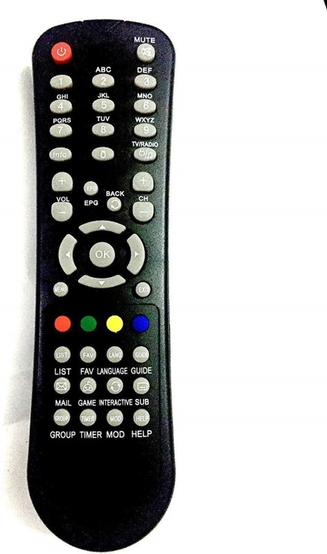 VBEST Si-01 SITI CABLE SET TOP BOX Remote Controller(Black)