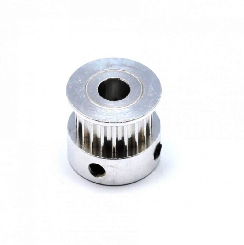 technologybazar GT2 20 Teeth Aluminium Timing Pulley with 5 mm Bore for 6 mm Width Belt (Silver) Sewing Machine Pulley