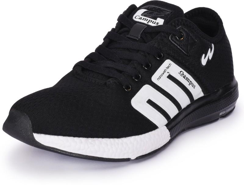 Campus BATTLE Running Shoes For Men(Black, White)