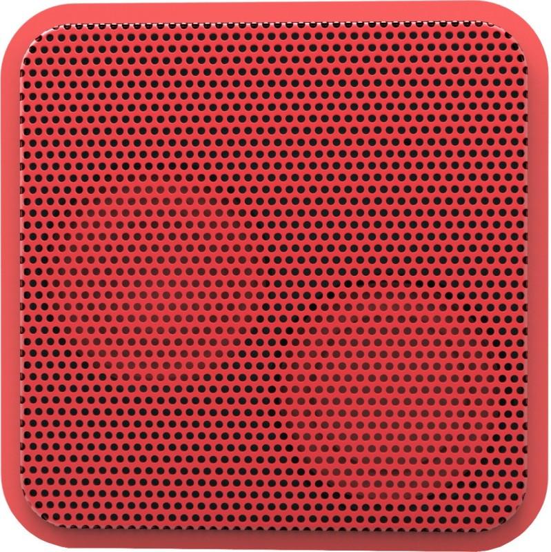 Portronics Cubix BT 2 W Portable Bluetooth Speaker(Red, Mono Channel)