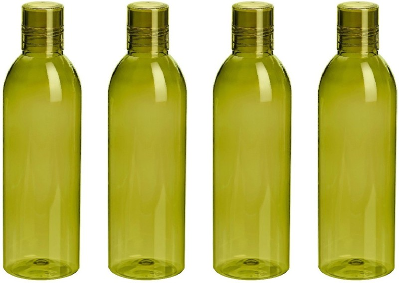 Steelo Savory Water Bottle, 1000ml, Set of 4, Olivegreen 1000 ml Bottle(Pack of 4, Green)