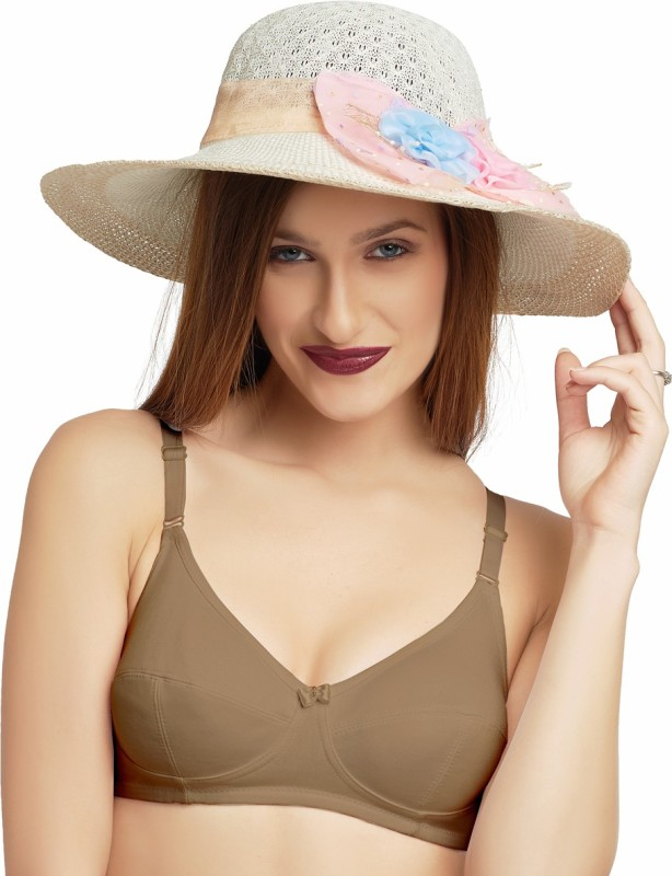 Lovable Women Full Coverage Non Padded Bra(Brown)