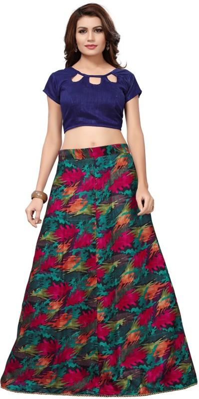 Active Digital Print Semi Stitched Lehenga Choli(Multicolor)