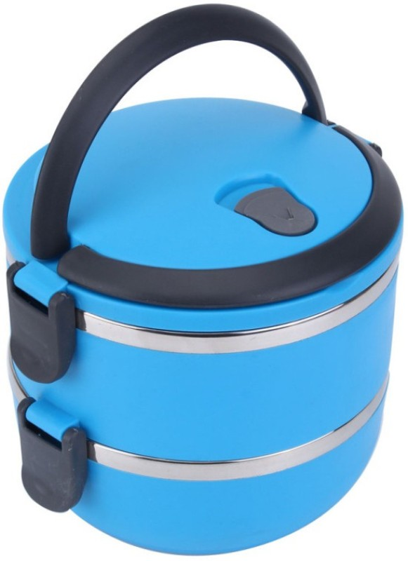 Blue Birds supper best stainless steel Hot And Cold Lunch Box 2 CONTAINER Insulated Container 1500 ml For Office/College/Travel /SCHOOL Airtight Leak Resistant With Lid Flasks And Casseroles Multicolour 1 Lunch Box (1500 ml) 2 Containers Lunch Box(1500 ml)