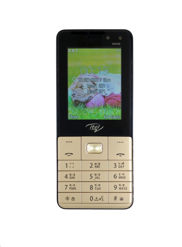 itel-it-5250champagne-gold