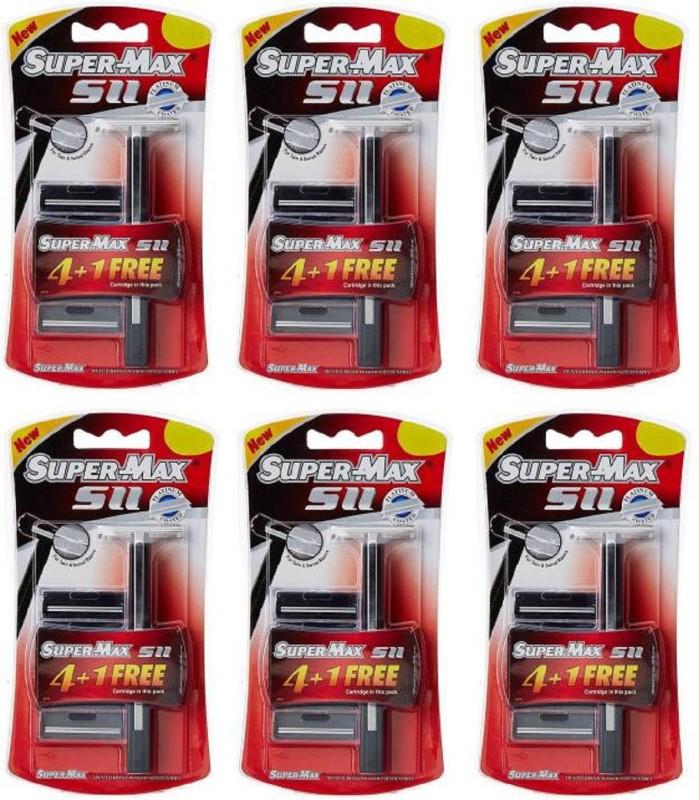 Super Max SuperMax SII Razor Set ( 6 Razor, 30 Cartridges )(Pack of 6)