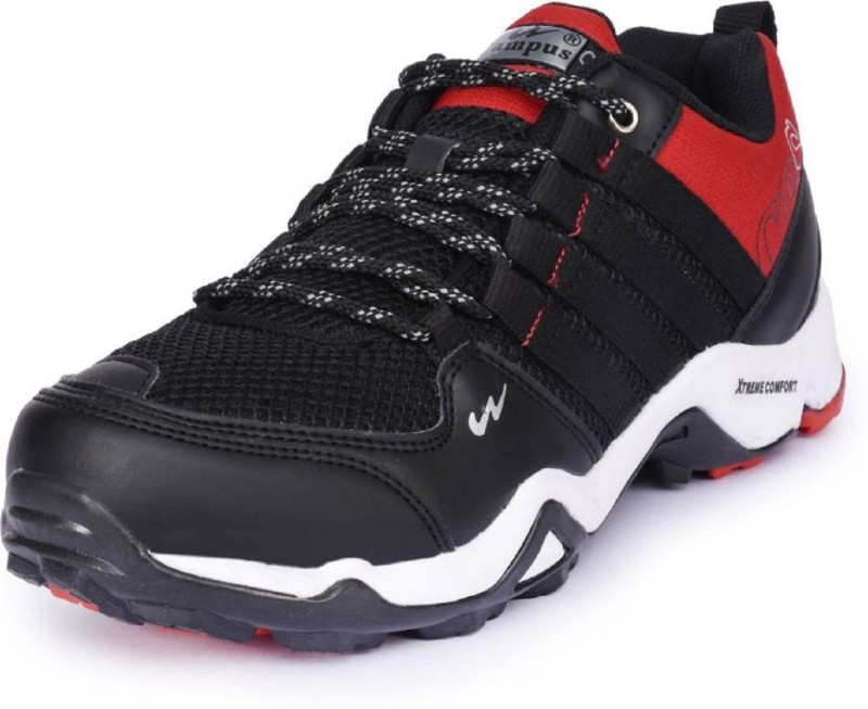 Campus Running Shoes For Men(Black, Red)