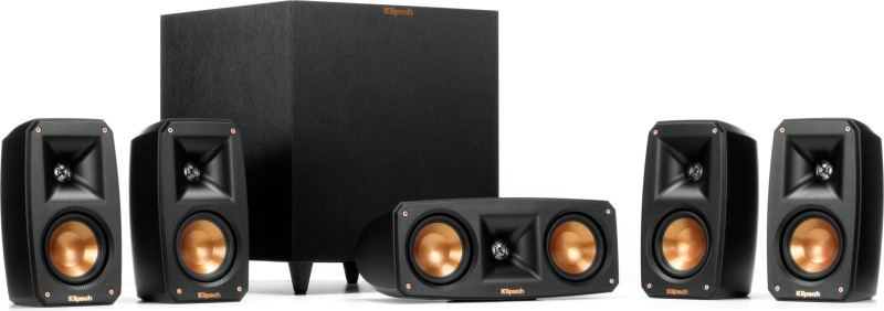"Klipsch Reference 5.1 Ch Home Theater Satellite Speaker Pack With 12"" Powered Subwoofer 675 Home Audio Speaker(Black, 5.1 Channel)"