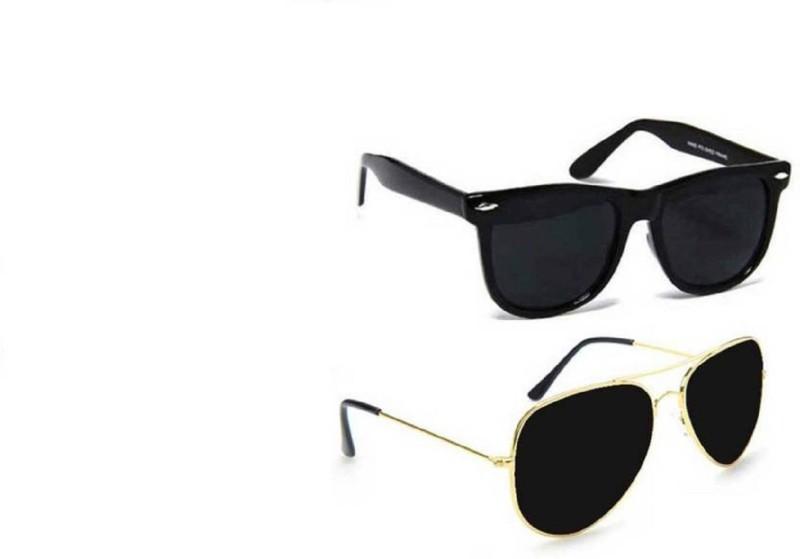 COST TO COST Wayfarer, Aviator Sunglasses(Black) image