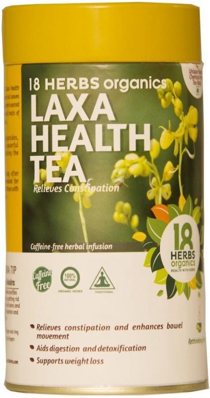 18 Herbs Laxa Health Tea TIN Senna Herbal Tea Bags(54 g, Mason Jar)