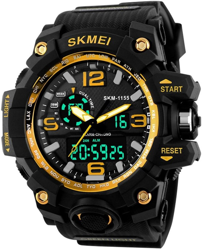 Skmei 1155 FAST SELLING ROUND MUTLI FUNCTION CHRONOGRAPH WORKING FAST SELLING ROUND DIAL WATCH UNIQUE RUBBER BELT WATCH FOR FESTIVAL & PARTY WEAR COLLECTION Watch - For Boys & Girls Watch - For Men & Women