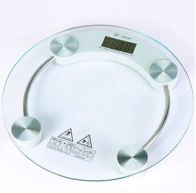 Arrowmax Toughened Glass Personal 8mm Weighing Scale(Transparent)