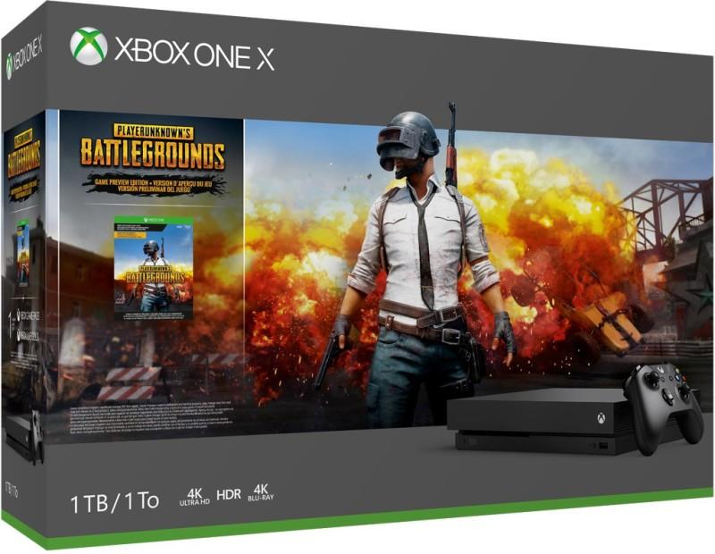 Microsoft Xbox One X 1 TB with PlayerUnknown's Battleground(Black)