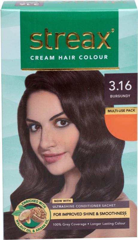 Streax Walnut Oil Hair Color(Burgandy 3.16)