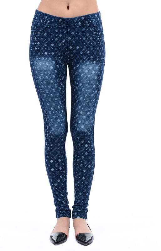 Monte Carlo Dark Blue Jegging(Printed)