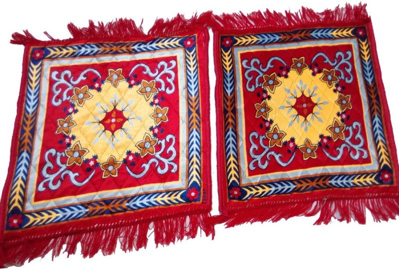 G S COLLECTIONS Polyester, Cotton Prayer Mat(Multicolor, Red, Medium)