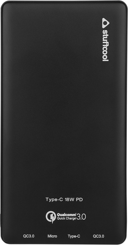 Stuffcool 10000 mAh Power Bank (720PD-BLK, Power Delivery)(Black, Lithium Polymer)