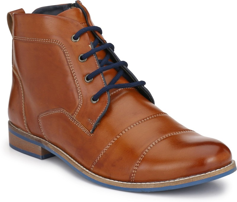 Eego Italy Stylish And Elegant Boots For Men(Tan)