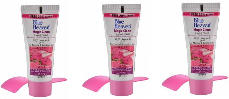 Blue Heaven Set of Three Rose Hair Remover (30 ML) Cream(90 ml, Set of 3)