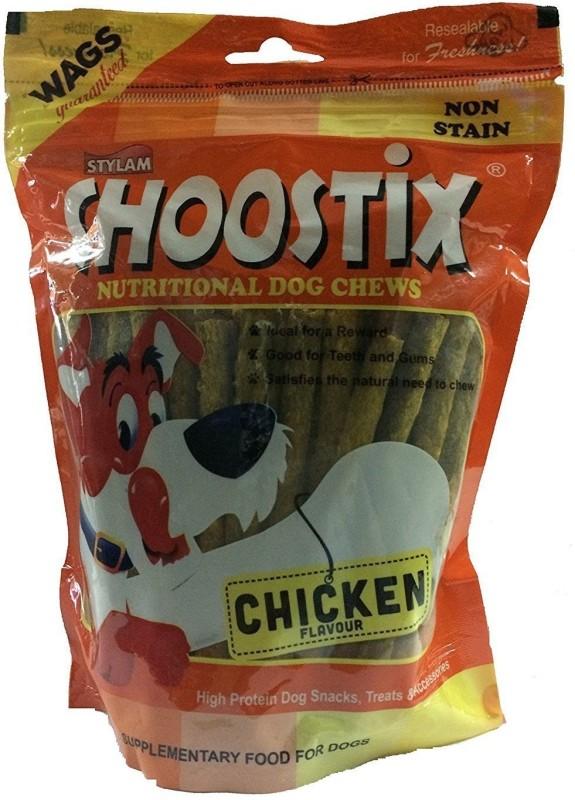 Choostix Chicken Nutritonal Dog Chew Stix 450gm Chicken 3600 g Dry Dog Food(Pack of 8)