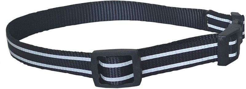 Pet Needs High Quality Designer Nylon Leash and Adjustable Collar Set for Puppy- for Tracking, Patrolling, Walking, and Training -Length- 46 inches, Width-0.6 inch 116 cm Dog & Cat Strap Leash(Black)