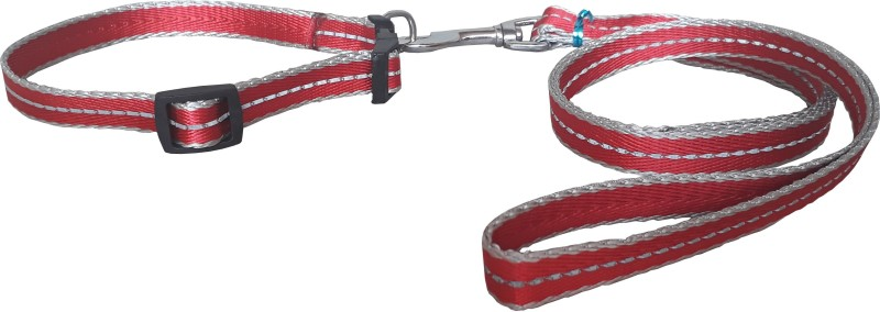 W9 High Quality Designer Nylon Leash and Adjustable Collar Set for Puppy- for Tracking, Patrolling, Walking, and Training -Length- 46 inches, Width-0.6 inch 116 cm Dog & Cat Strap Leash(Red)