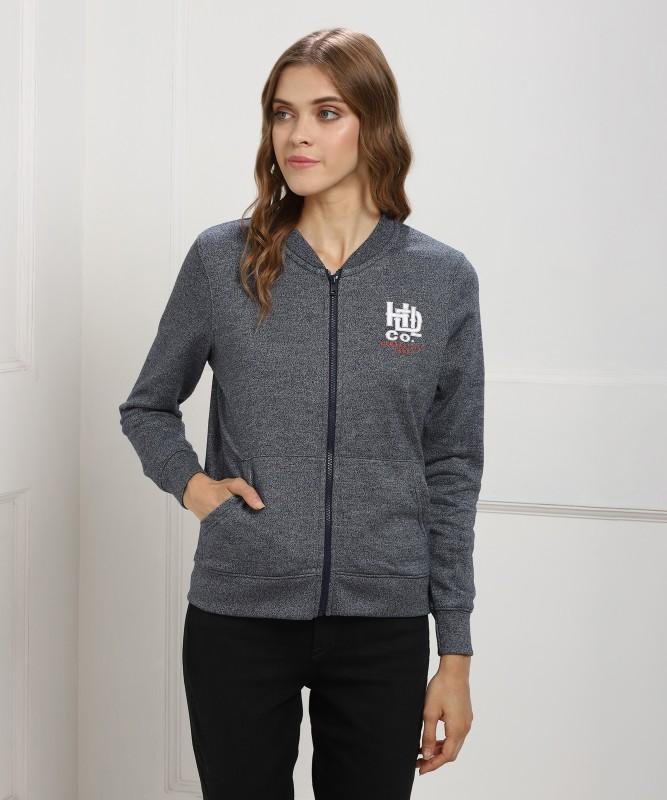 Lee Full Sleeve Self Design Womens Sweatshirt