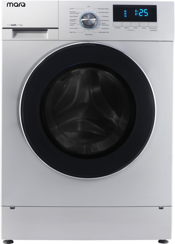 MarQ by Flipkart 7.5 kg Fully Automatic Front Load Washing Machine White(MQFLXI75)