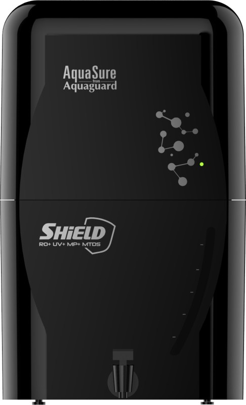 Eureka Forbes Aquasure from Aquaguard Shield 6 L RO + UV + MP + MTDS Water Purifier(Black)