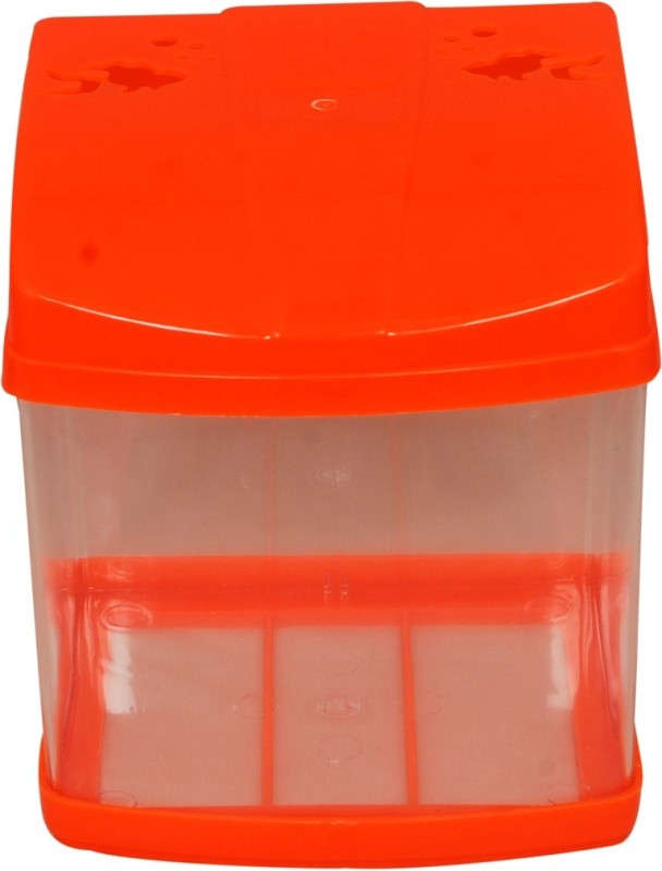 Aquapetzworld Cube Aquarium Tank (2.5 L)-Orange Cube Aquarium Tank(2.5)