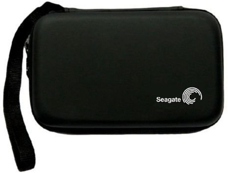Gadget Deals Semi Hard, ShockProof, WaterProof (with lanyard) 2.5 inch External Hard Disk Cover(For Seagate, Toshiba, WD, Sony, Transcend, Lenovo, ADATA, HP & Hitachi 2.5 inch External Hard Disks, Black)