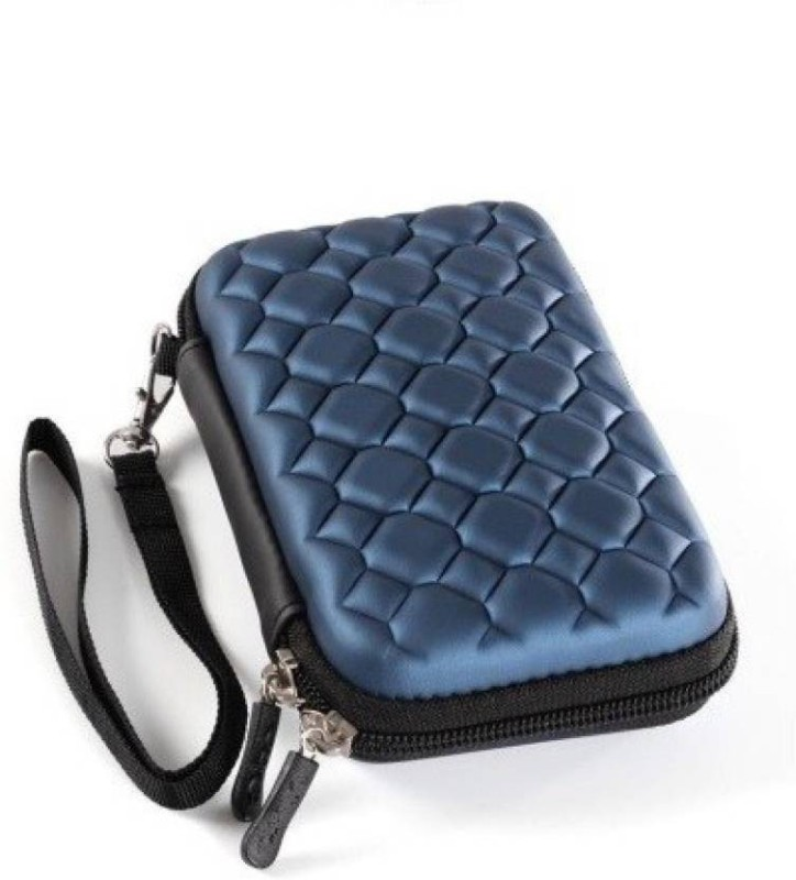 M Mod Con Pouch for WD My Passport 4 TB Wired External Hard Disk Drive(Blue, Shock Proof, Artificial Leather)