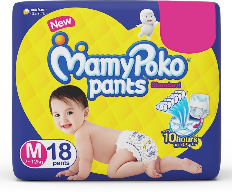 MamyPoko Pants Standard Diapers - M(18 Pieces)