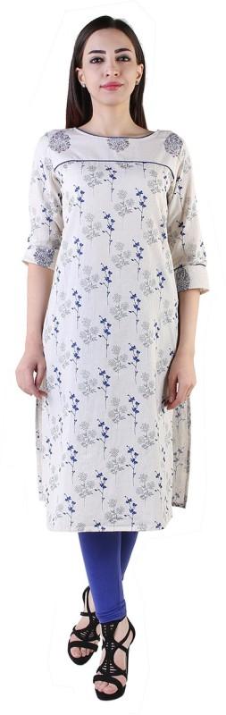 Shopping Rajasthan Festive & Party Printed Women's Kurti(White)