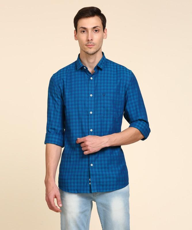 Allen Solly Men Checkered Casual Blue Shirt