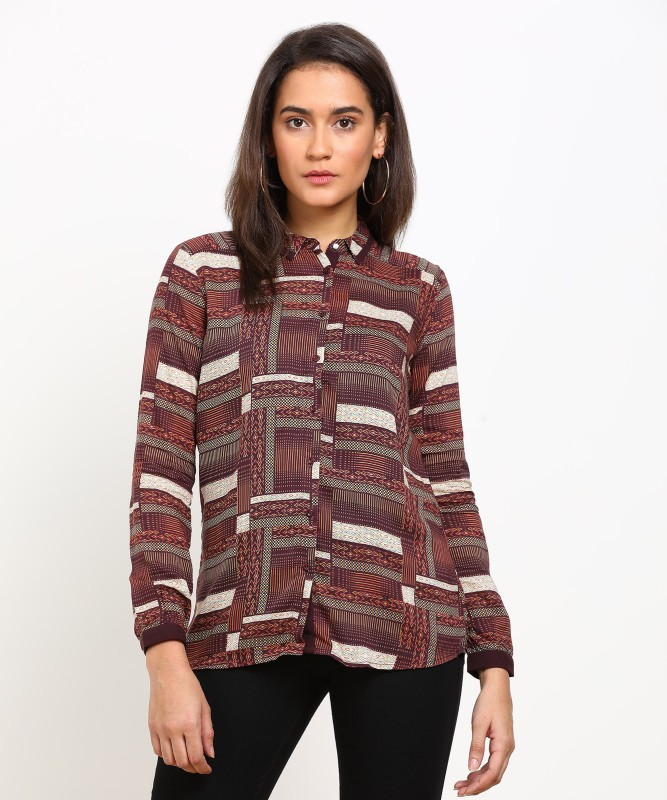 Arrow Womens Printed Casual Spread Shirt