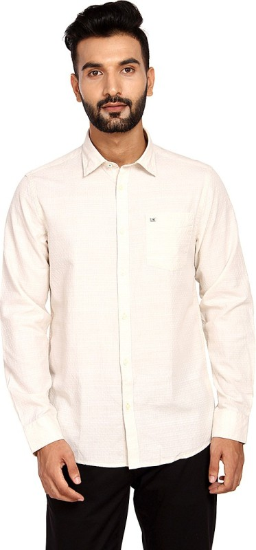 Blackberrys Men Solid Formal Beige Shirt