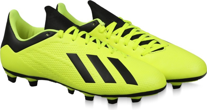 ADIDAS X 18.4 FG Football Shoes For Men(Yellow)