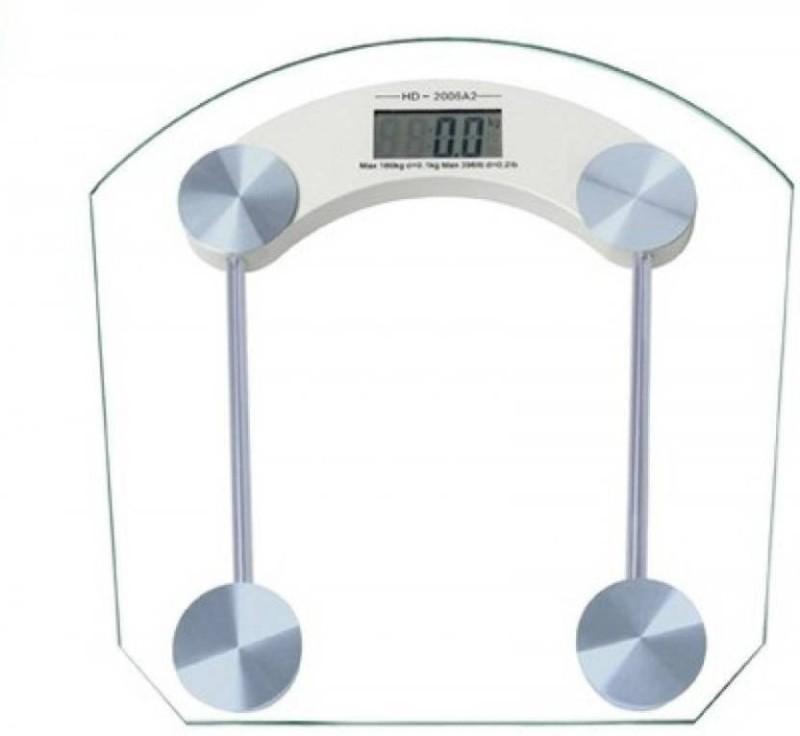 Mezire Digital Bathroom Weighing Scale 8MM Thick Glass Weighing Scale  (White) Weighing Scale(Transparent)