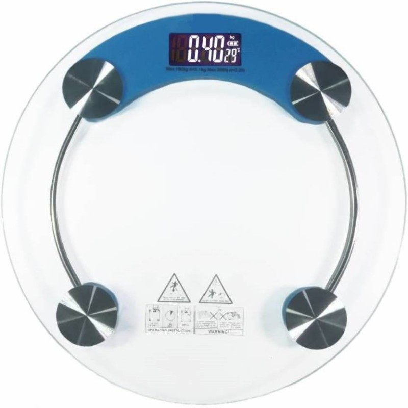 Mezire  health check-up machine Weighing Scale  (White/Blue) Weighing Scale(Blue)