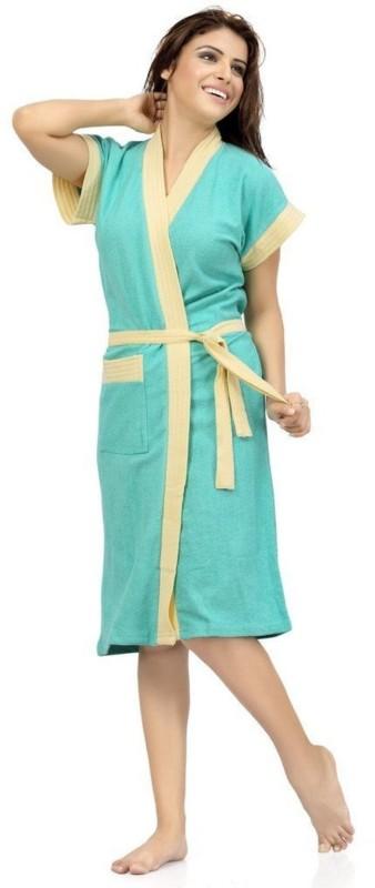 Bhuvis Fashion Light Blue Free Size Bath Robe(1 Bath Robe, For: Women, Light Blue)