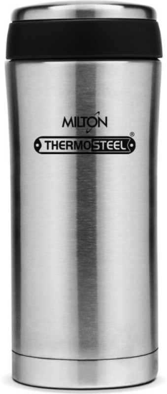 Milton Thermosteel Optima Flask, 420 ml, Steel Plain (EC-TMS-FIS-0009_Silver) 420 ml Flask(Pack of 1, Silver)