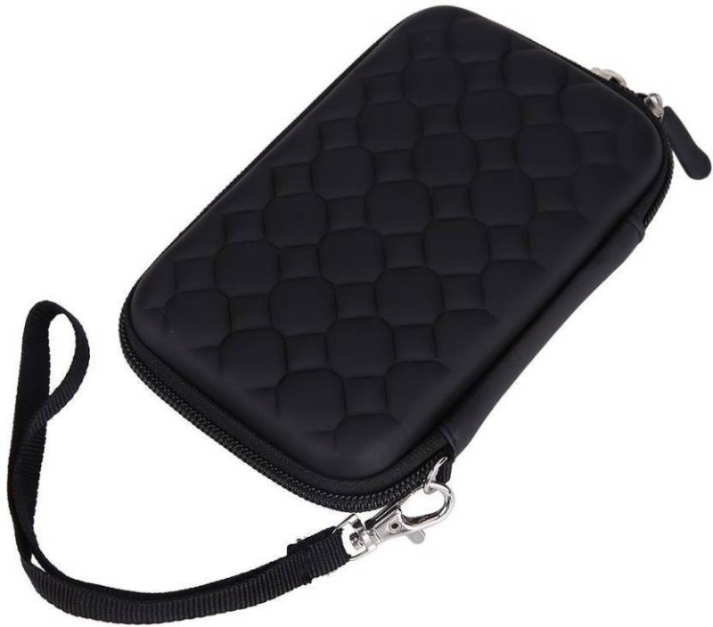 M Mod Con Pouch for Toshiba Canvio Basic 500 GB External Hard Disk(Black, Shock Proof, Artificial Leather)