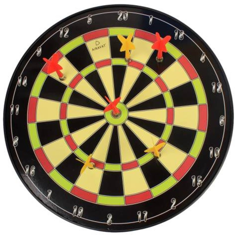 Civil Magnetic Dart Board Game Multicolor - 34.5 CM 35.5 cm Dart Board (Multicolor) Steel Tip Dart(Multicolor, Pack of1)